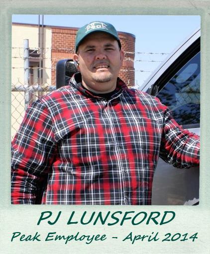 April 2014 – Peak Employee Highlight: PJ Lunsford