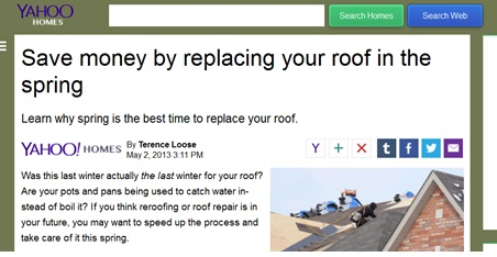 replacing your roof in the spring image